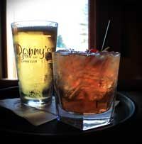Icy cold beer and a tasty brandy old fashioned: Wisconsin's best at Donny's Girl Supper Club!